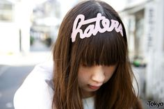 """Earlier this year, we posted a Harajuku street snap featuring this """"HATERS"""" headband by the Tokyo-based fashion brand #Le #Vero. The headband sold out quickly after the snap was posted, but the designer just emailed us to let us know it's back in stock at her Etsy shop. We have no relation with the brand, just helping them get the word out!  Here is the original street snap, BTW: http://tokyofashion.com/pastel-haters-headband-galaxy.../ #tokyofashion #street snap #Harajuku"""
