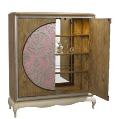 A-2559-1001-AOW Vauvert Bar in Aged Oak and White finish available at French Heritage.