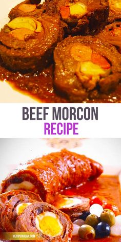 Beef Morcon Recipe is a Filipino meat roll stuffed with sausage or hotdogs, carrots, pickles, cheese, and egg. This is considered as a holiday dish and is usually served during Christmas and New Year's eve.