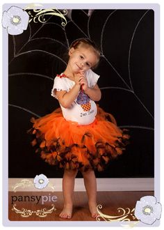 Halloween Tutu Set Baby Tutu Outfits Halloween by PansyPieBoutique, $40.99