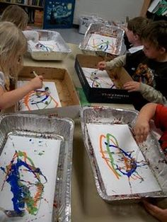 Kinder art - love this idea of having everything contained!! Jackson  pollock Proyectos De 1c28f39bb21bd