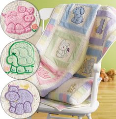 child quilt patterns printable | Little hands will have fun exploring the soft, plush embroidery ...