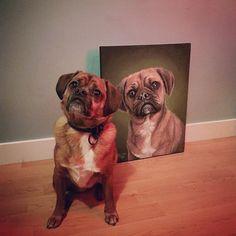 Dog Portrait (Acrylic, 2015)