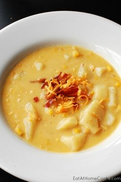 Cheesy Corn and Potato Chowder with Bacon