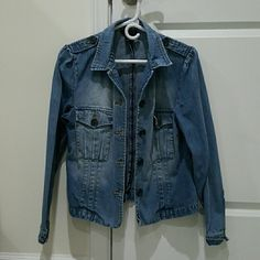Medium The Limited denim jacket Worn only a few times - great condition. Fits a size 4-6 top. The Limited Jackets & Coats Jean Jackets