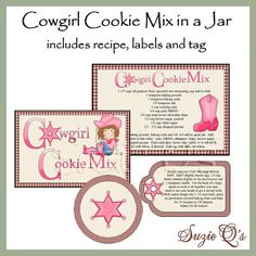 Make your own Chocolate Chip Cookie Mix in a Jar - Label, Tag and ...