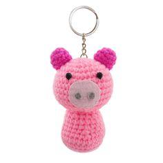 Pig Handmade Crochet Stuffed Keychains Keyrings VKC