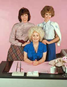 Nine to Five (1980). Lilly Tomlin, Jane Fonda and Dolly Parton. Classic comedy that brought out inequality and work issues woman face with humor. Holds up today. Also spawned a huge hit song of the same name for Dolly Parton.
