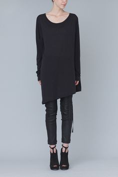 Ann Demeulemeester Loose Remi Top (Black)