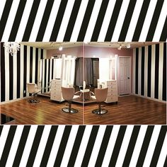 """Construction is well underway for our brand new state of the art salon to be opening soon. Stay tuned for our """"golden locks"""" grand opening date and don't forget to book an appointment today! #grandopening #salon#blackandwhite #hair #hairstudio #goldenlocks #lahair #losangeleshair #style #hairstylist #stripes #new #glam #studio beauty by golden_locks_by_yehudis"""