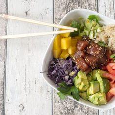 cookinmovie-poke-bowl-7 Poke Bowl, Detox Recipes, Healthy Recipes, Clean Eating, Healthy Eating, Asian Recipes, Ethnic Recipes, Raw Vegan, Good Food