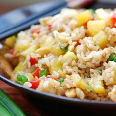 """Rice recipes are extremely various, and many of them guide you to make lenten meals. The greatest sources of """"rice inspiration"""" are Eastern and Asian cookin Rice Recipes, Asian Recipes, Chicken Recipes, Ethnic Recipes, Chinese Recipes, Easy Recipes, Recipe Chicken, Shrimp Recipes, Lunch Recipes"""