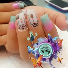 Fails Design Short Nude Ideas For 2019 Hot Nails, Hair And Nails, Dream Catcher Nails, Indian Nails, Tribal Nails, Diva Nails, Sparkle Nails, Manicure E Pedicure, Cute Acrylic Nails