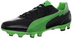 Puma Men's Evospeed 3 FG Soccer Cleat,Black/Fluo Green/Classic Green,9 D US Puma. $29.69