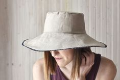 Sewing Clothes Patterns Stay safe and fashionable in the sun when you sew your own reversible sun hat with this free pattern! - Stay safe and fashionable in the sun when you sew your own reversible sun hat with this free pattern! Hat Patterns To Sew, Sewing Patterns Free, Free Sewing, Free Pattern, Clothes Patterns, Hat Pattern Sewing, Fabric Patterns, Knitting Patterns, Hat Tutorial