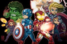 The Avengers...It's what we call ourselves, sort of like a team.