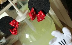 Lemonade was served in our Minnie Dispenser...ears, bow & gloves complete it!