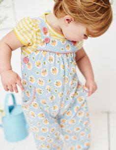 Printed Jersey Dungarees, Boden