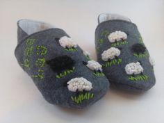 Baa Baa Black Sheep Baby Booties