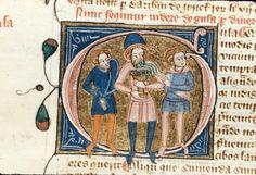 Gula (Gluttony) Royal 6 E VII Author: James le Palmer Origin: England, S. E. (London) Date: c. 1360- c. 1375