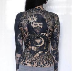 Monami Frost& Back Tattoo (Artist: Anrijs Straume) ♥ - Irezumi Tattoos, Backpiece Tattoo, Monami Frost, Dragon Tattoo Back Piece, Dragon Sleeve Tattoos, Back Tattoo, Body Art Tattoos, Girl Tattoos, Arabic Tattoos