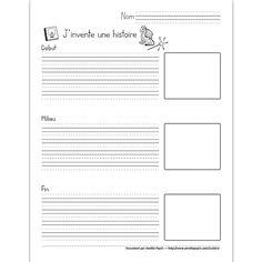Fichier PDF téléchargeable En noir et blanc 1 page Voici un autre modèle de plan pour la création d'un récit en 3 temps. La feuille est divisée en 3 (début, milieu et fin) avec des espaces pour dessiner.