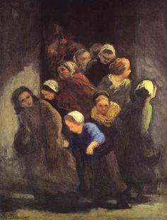 Honore Daumier  Leaving School