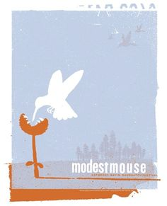 Modest Mouse gig poster.