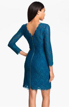 Adrianna Papell V-Back Lace Sheath Dress | Nordstrom