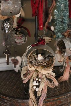 stunning nest ornament - would make a great window display