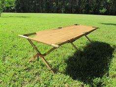 Army Cot, Military Cot, Vintage Camping, Tent Cot, Coffee Table, Industrial, Khaki by KarensChicNShabby on Etsy