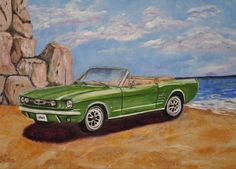 1964 Mustang - prints & posters available, original sold. 2014 is the 50th anniversary for the Mustang.