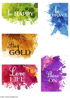 Free Watercolor Cards for Project Life {set two} from scrappystickyinkymess