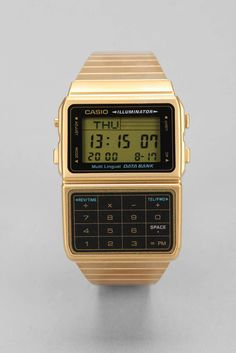 Casio Classic Gold Databank Watch - Urban Outfitters