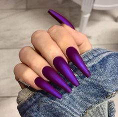 Purple Nail Art Designs Collection 64 trendy purple nail art designs and ideas you have to try Purple Nail Art Designs. Here is Purple Nail Art Designs Collection for you. Purple Nail Art Designs purple nail arts nail art in 2019 purple nail art. Matte Purple Nails, Purple Nail Art, Purple Nail Designs, Coffin Nails Matte, Cute Acrylic Nails, Fun Nails, Nail Art Designs, Nails Design, Violet Nails