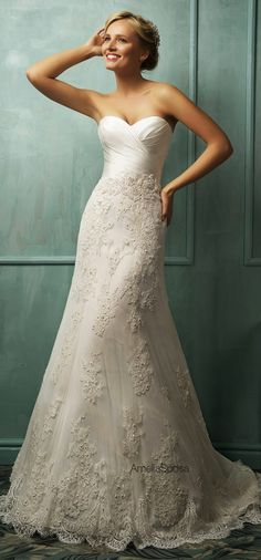 Amelia Sposa 2014 Wedding Dresses - the most beautiful wedding dresses! Wedding Dresses 2014, Wedding Attire, Bridal Dresses, Wedding Gowns, Bridesmaid Dresses, Wedding Blog, Party Dresses, Tulle Wedding, Lace Dresses