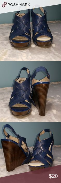 Navy Blue Wedge Navy Blue Wedge MRKT Shoes Wedges