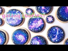 How To Decorate Galaxy Cookies With Royal Icing! - YouTube