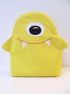 Schminktäschchen - Schminktäschchen ZYKLOP Mäppchen Monster Tasche - ein Designerstück von ambaZamba bei DaWanda