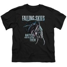 FALLING SKIES BATTLE OR BECOME Youth Short Sleeve T-Shirt