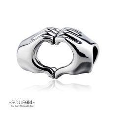 Soufeel Fingers With Hearts Charm 925 Sterling Silver Shop->http://www.soufeel.com/fingers-with-hearts-charm-925-sterling-silver.html