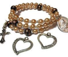 $55 - USE CODE HEART15 to get special WeHeartIt savings of 15% off now plus free shipping Interchangeable Rosary bracelet Little by maggiescornerstore