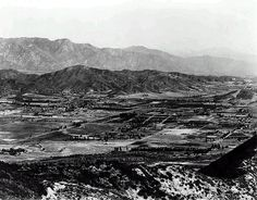 1910 aerial looking northeast across glendale towards eagle rock, eagle rock is visible at the far right of center by gsjansen, via Flickr