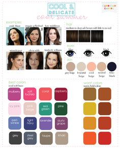 Colors with dark hair and neutral toned skin
