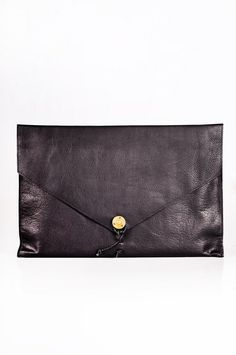 P.A.P. - Laptop Cover Leather Black