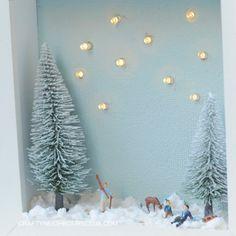 Eine leuchtende Winterlandschaft im Bilderrahmen. Wir zeigen euch auf unserem Blog, wie das geht.