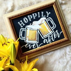 Hoppily Ever After Beer Chalkboard Wedding Sign by Bachelorette Party Beer Bong Craft Beer Wedding, Brewery Wedding, Bachelorette Party Decorations, Beer Party Decorations, Bachelorette Parties, Chalkboard Wedding, Chalkboard Signs, Chalkboards, Wedding Signs