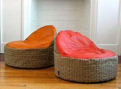 modern kids bean bag chair - made to order. $90.00, via Etsy.