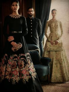 Indian Fashion — Palermo Afternoons by Sabyasachi. Indian Gowns Dresses, Pakistani Dresses, Stylish Dress Designs, Stylish Dresses, Ethnic Outfits, Indian Outfits, Sabyasachi Gown, Anarkali, Sabyasachi Collection