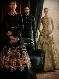 Indian Fashion — Palermo Afternoons by Sabyasachi. Designer Bridal Lehenga, Designer Gowns, Indian Designer Wear, Designer Kurtis, Indian Gowns, Indian Attire, Indian Outfits, Indian Wear, Indian Clothes